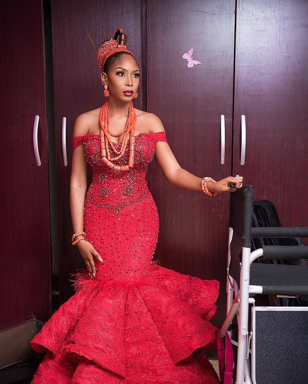 Wedding Hairstyles In Nigeria: This Gorgeous Bride's Traditional Wedding Is Any Igbo