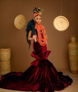 Vibrant Edo Bridal Look For That Royal Bride